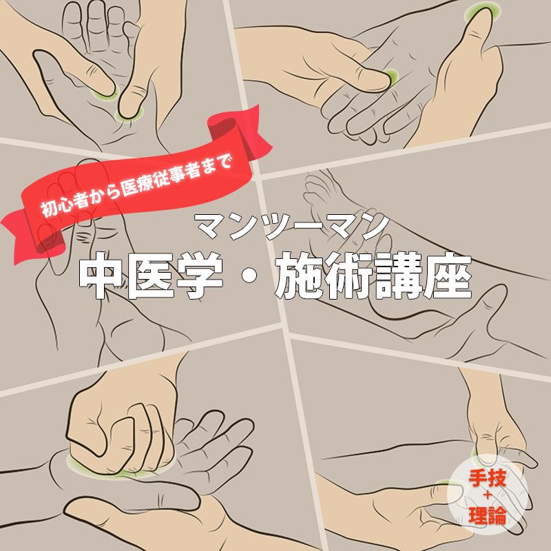 【手技+理論】マンツーマン中医学・施術講座|望永航史